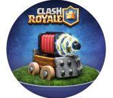 Papel Arroz Clash Royale Redondo 003 1un