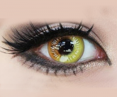 Coscon Anime Eyes - Yellow - 14.5mm