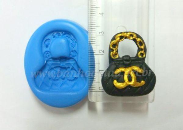 0b6282ab2 Molde de silicone bolsa Chanel - Banho de Lua