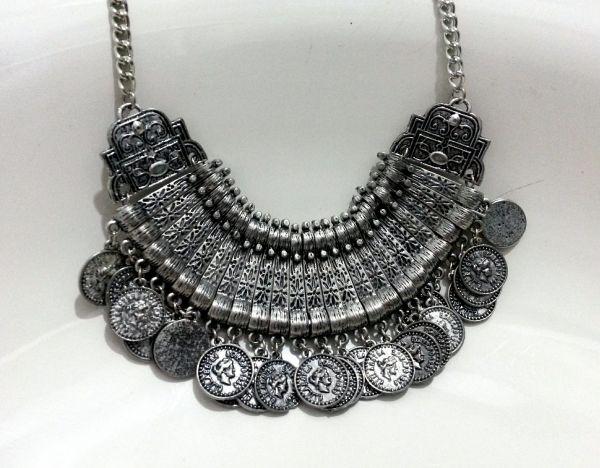 colar gypsy prata