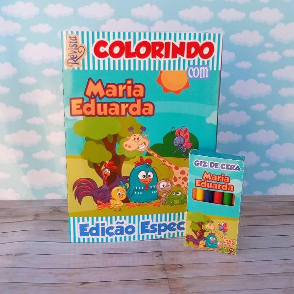 Kit para colorir Galinha Pintadinha