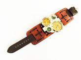 Relógio Steampunk Esportivo de Pulso 4/4  Rústico 6cm