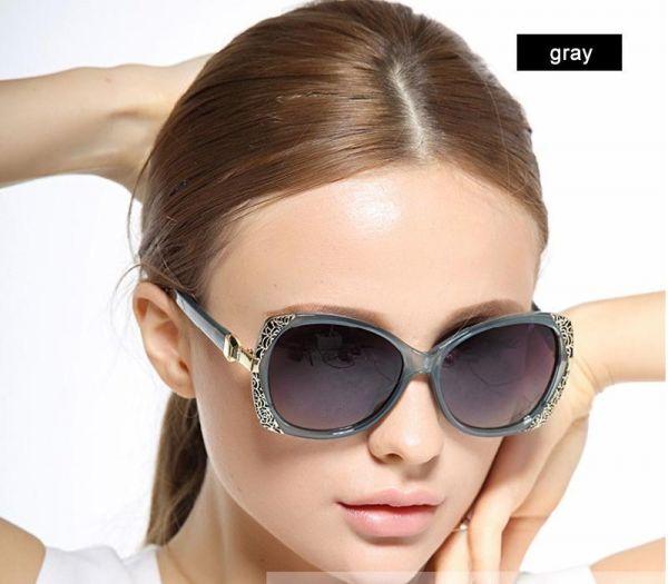 6905c045ba4d8 Óculos de Sol Elegante Feminino Polarizados UV400 Cinza - Virtual JMC