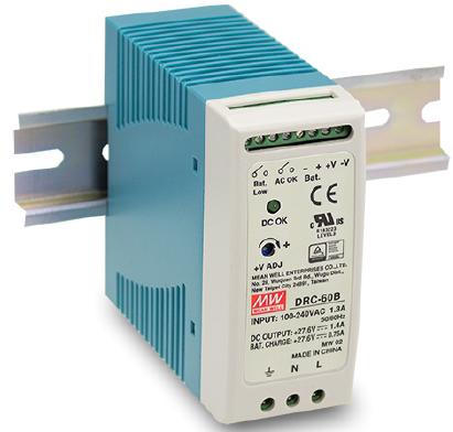 DRC-60A Fonte Chaveada DIN 12V x 2,8A c/ Carregador de Bateria 12V  x 1,5A