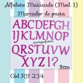 Alfabeto Maiúsculo (Mod.1) Matcador de Pasta RV 234