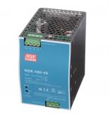 NDR-480-48 Fonte Chaveada Industrial 48V x 10A p/ Trilho DIN Mean Well