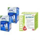 Tiras Reagentes De Glicose G-Tech Free lite C/100un + 100 Lancetas