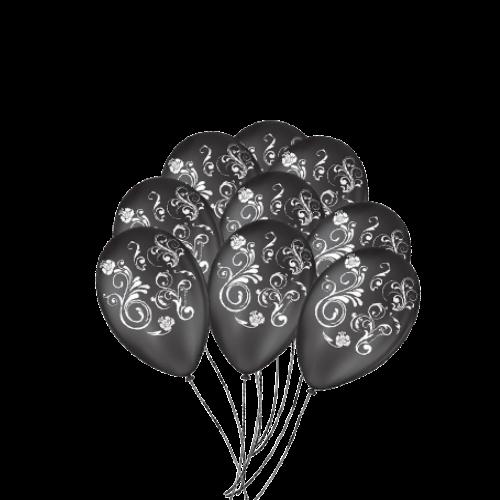 Balão Decorado Arabescos Nº9 25un