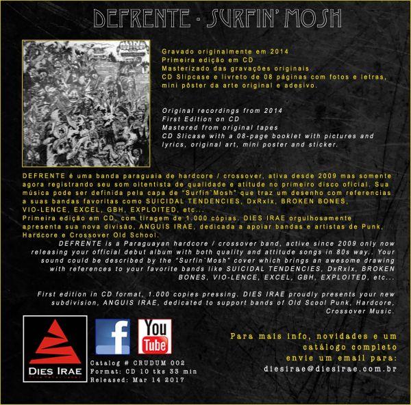 DEFRENTE - Surfin' Mosh (CD)