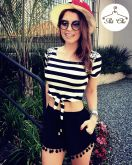 Cropped Stripes | Listras  [ Bordado ]