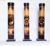 Incensário Pirografado de Bambu
