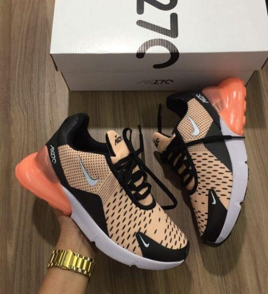 adfa1b1733a Tênis Nike Air Max 270 Laranja - Outlet Ser Chic