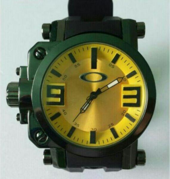 2134792c767 Relogio de Pulso Masculino Oakley Gearbox Titanium Amarelo - Erdora ...