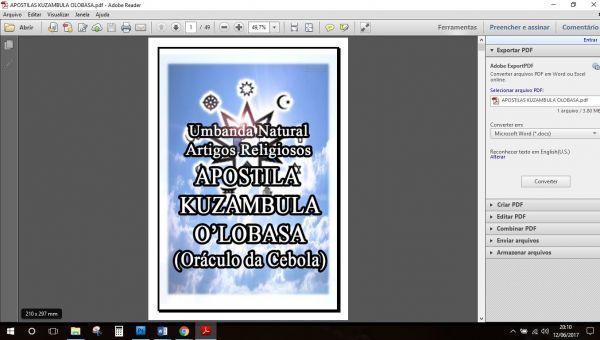 APOSTILA KUZAMBULA O'LOBASA – O ORÁCULO DA CEBOLA + Áudios