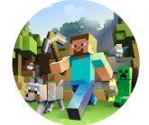 Papel Arroz Minecraft Redondo 007 1un