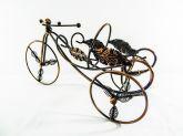 Suporte De Garrafa De Vinho Em Metal - Bronze - Bicicleta