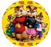 Papel Arroz Alvin e os Esquilos Redondo 011 1un