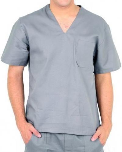 Camisa de brim gola V