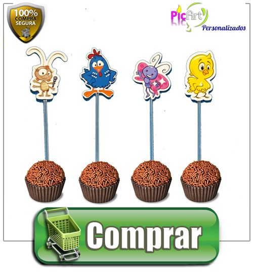 Tags Para Doces 2 5 Cm Recorte Especial Galinha Pintadinha