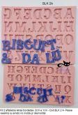 Kit  2 alfabetos decorativos - (BLK 2A) 2cm/1cm