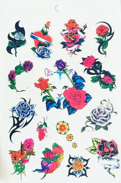 Kit 60 Tatuagens Flores