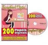 DVD 200 Papéis Digitais para Scrapbook Volume 1