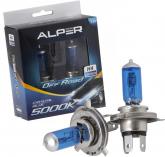 Lâmpada Farol H4 12V 100/90W Alper Crystal Blue Off Road - CD4202