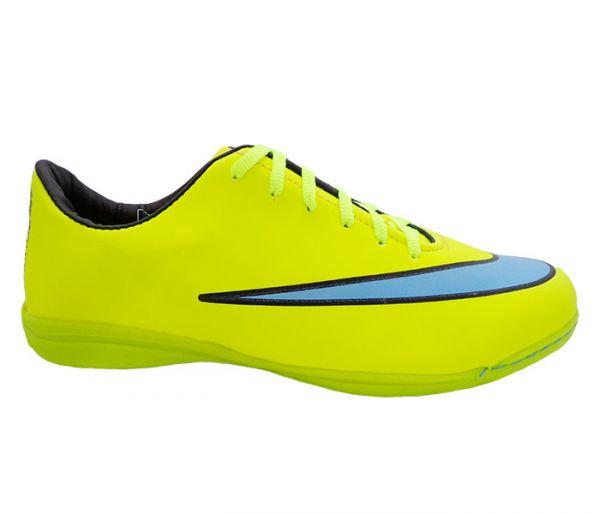 Chuteira Futsal Nike Mercurial Victory 5 Verde Limão e Azul Modelo 12326 -  A Pronta Entrega 56acd56c70581