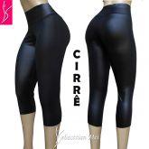 corsários plus size/calça capri 56/58-60/62 cintura alta, tecido cirrê preto