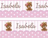 Faixa  Adesiva  Urso Rosa - 019
