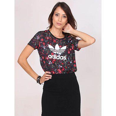 2fdd546f36bee Camiseta Feminina Adidas Trefoil Tee Aop Originals - Color - Tudo ...