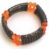 Bracelete com cristal laranja