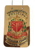 Distintivo Papiloscopista Policial - Polícia Civil SP - Chapa
