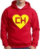 Blusa com estampa CH M 67 vermelha