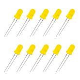 COD 101A - Led Amarelo Difuso 5mm-Pacote c/ 10pçs
