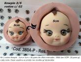 Kit 2 rostos  kewpie + 40 olhos res. 380A