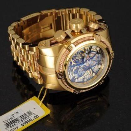 11808cd380f Relógio Invicta 12902 Reserve Bolt Zeus Skeletonized Banhado à Ouro ...