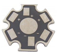 Placa MCPCB Dissipadora Estrela p/ LED de 1W, 3W ou 5W - pack 10 pçs