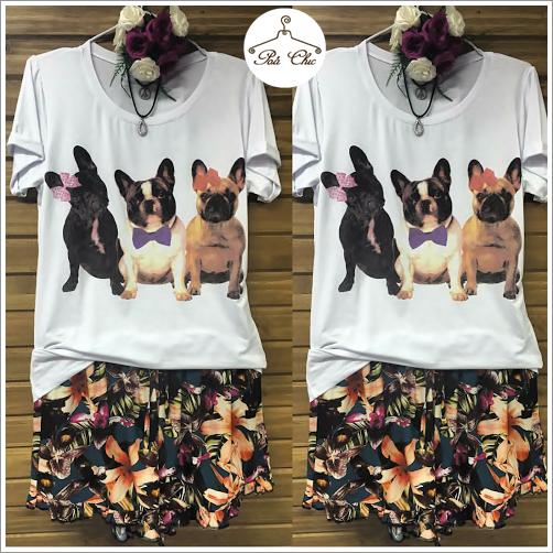 Shorts Floral [ Babado ] Viscose