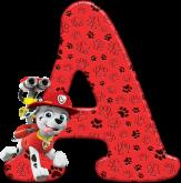 Alfabeto - Patrulha Canina - Marshall 4 - PNG