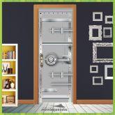 Adesivo Porta - Porta Cofre de banco - Criativo 008