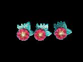 Kit Flores de Papel Vermelho 3un