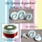 Kit Ejetores Azevinhos/ Folhas de Natal- RV 222
