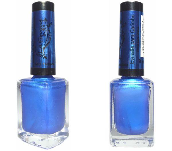 Azul Perolado - Carimbo