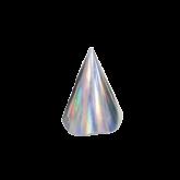 Chapeuzinho Holográfico Prata 8un