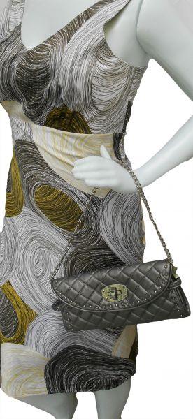 871578e4f Bolsa Feminina Prata com Alça Corrente prateada - Usate Bazar Brecho ...