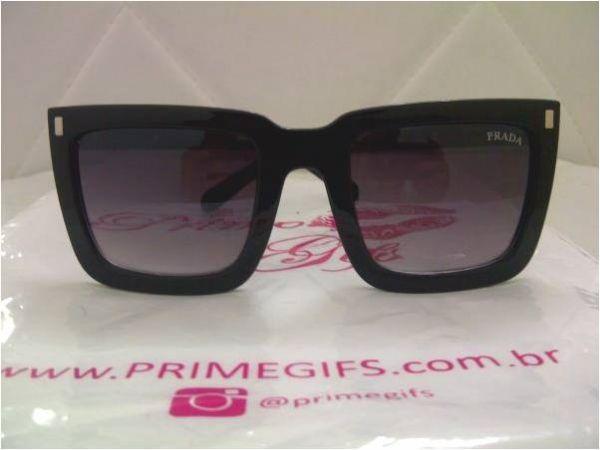 6cdf121e4860c Óculos Prada mascara preto laminado - Prime Gifs
