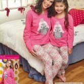 Pijama Corujinha Mãe e Filha - Promoção