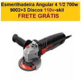Esmerilhadeira Angular 4 1/2 700w 9002+3 Discos 110v-skil + FRETE GRÁTIS