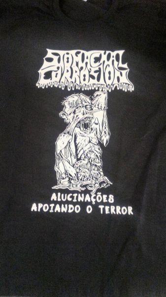 Camisa - StomachalCorrosion - Alucinações Apoiando o Terror